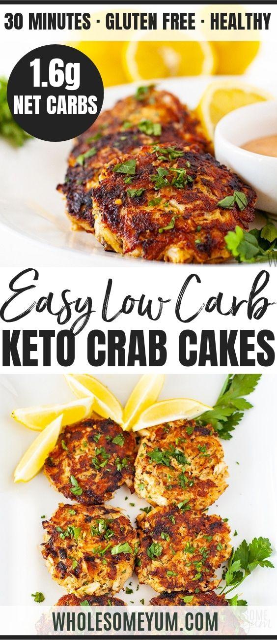 Gluten Free Low Carb Crab Cakes Paleo Pinterest Image Keto