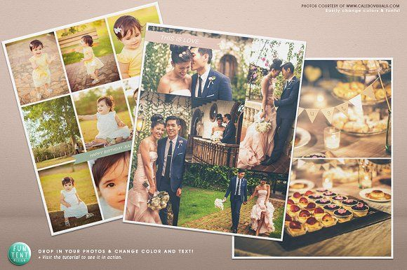 3 Blog boards collage template 16x20 by FUN TENT DESIGN on - photography storyboard sample