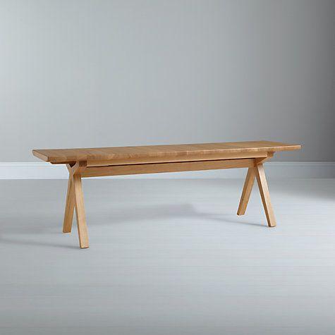 Bethan Gray For John Lewis Noah 3 Seater Dining Bench Oak