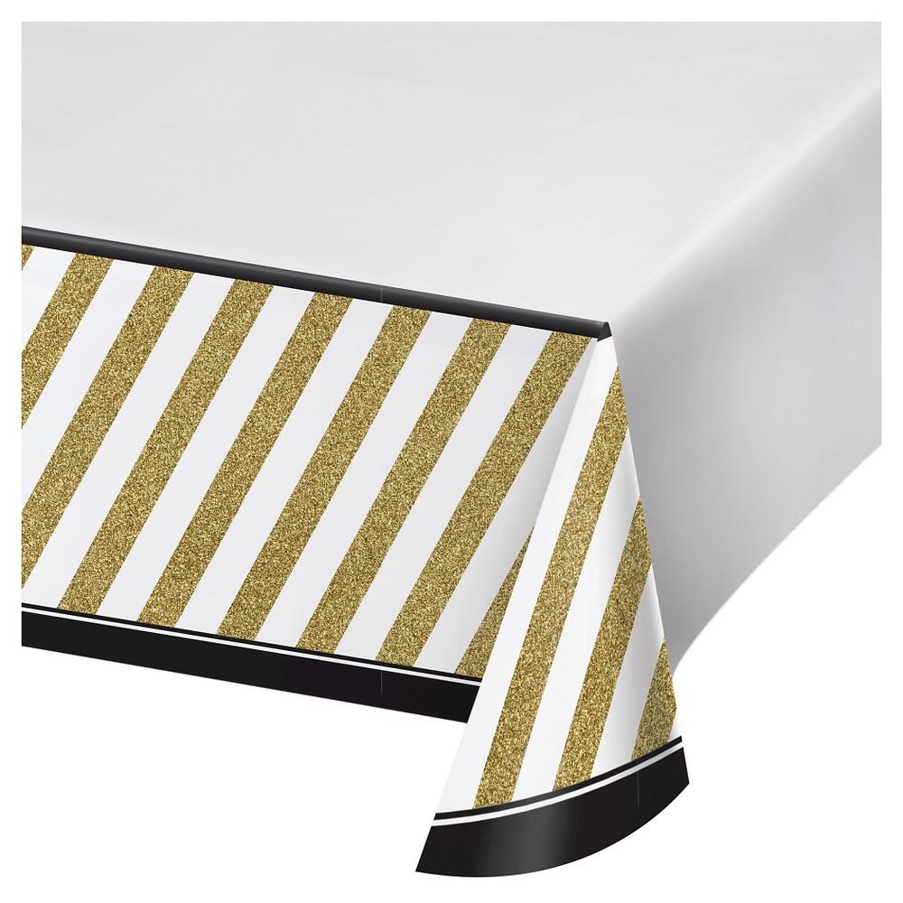 Black Gold Plastic Tablecloth Plastic Tablecloth Gold Tablecloth Black Gold Party
