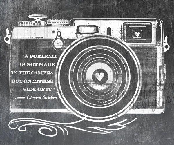 Edward Steichen Quote Retro Camera Horizontal Print