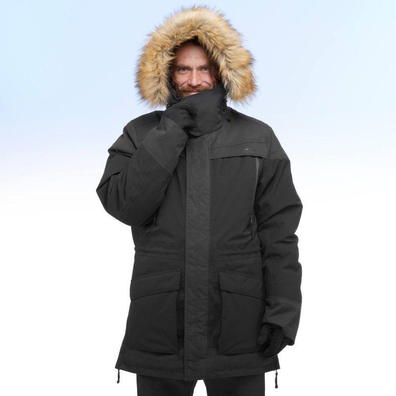 35 Parka Waterproof Hiking Men's Black Jacket SH500 uK15TJlFc3