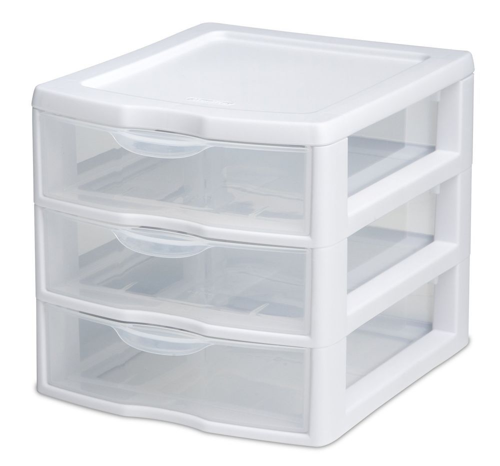 Mini Drawer Storage Cabinet Box Desk Tool Organizer Home Office Plastic Clear Sterilite Desktop Storage Sterilite Drawer Unit