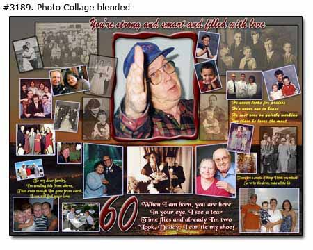Dads 60th Birthday Collage
