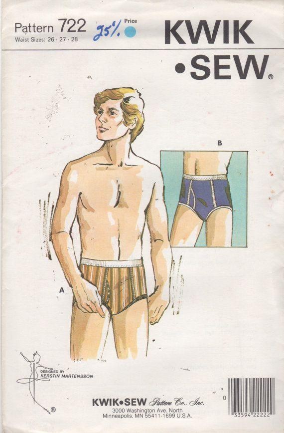 Kwik Sew 722 1970s Boys Teens Briefs Pattern Jockey Shorts Vintage ...