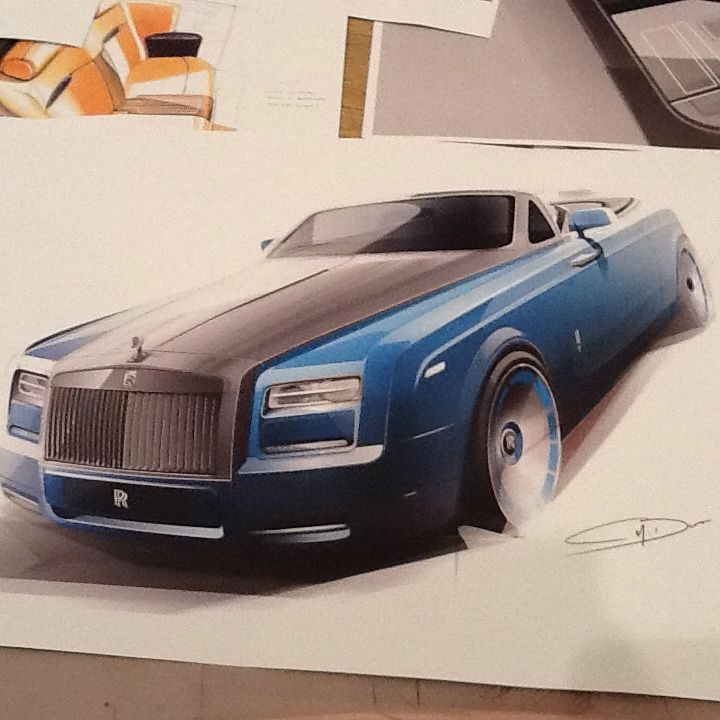 Sketch coupe Rolls