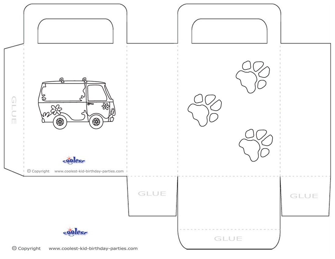 Printable Scooby Doo Favorbag Coolest Free Printables