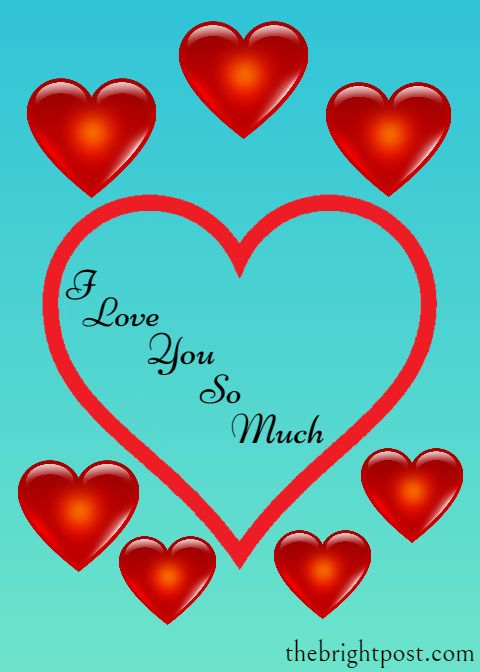 I Love You So Much Image Whatsapp Message