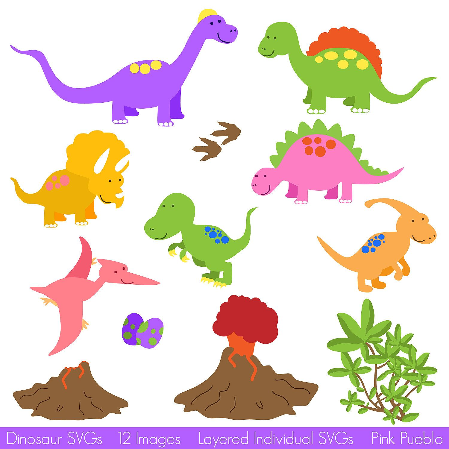 Dinosaur SVGs, Dinosaur Cutting Templates - Commercial and Personal ...