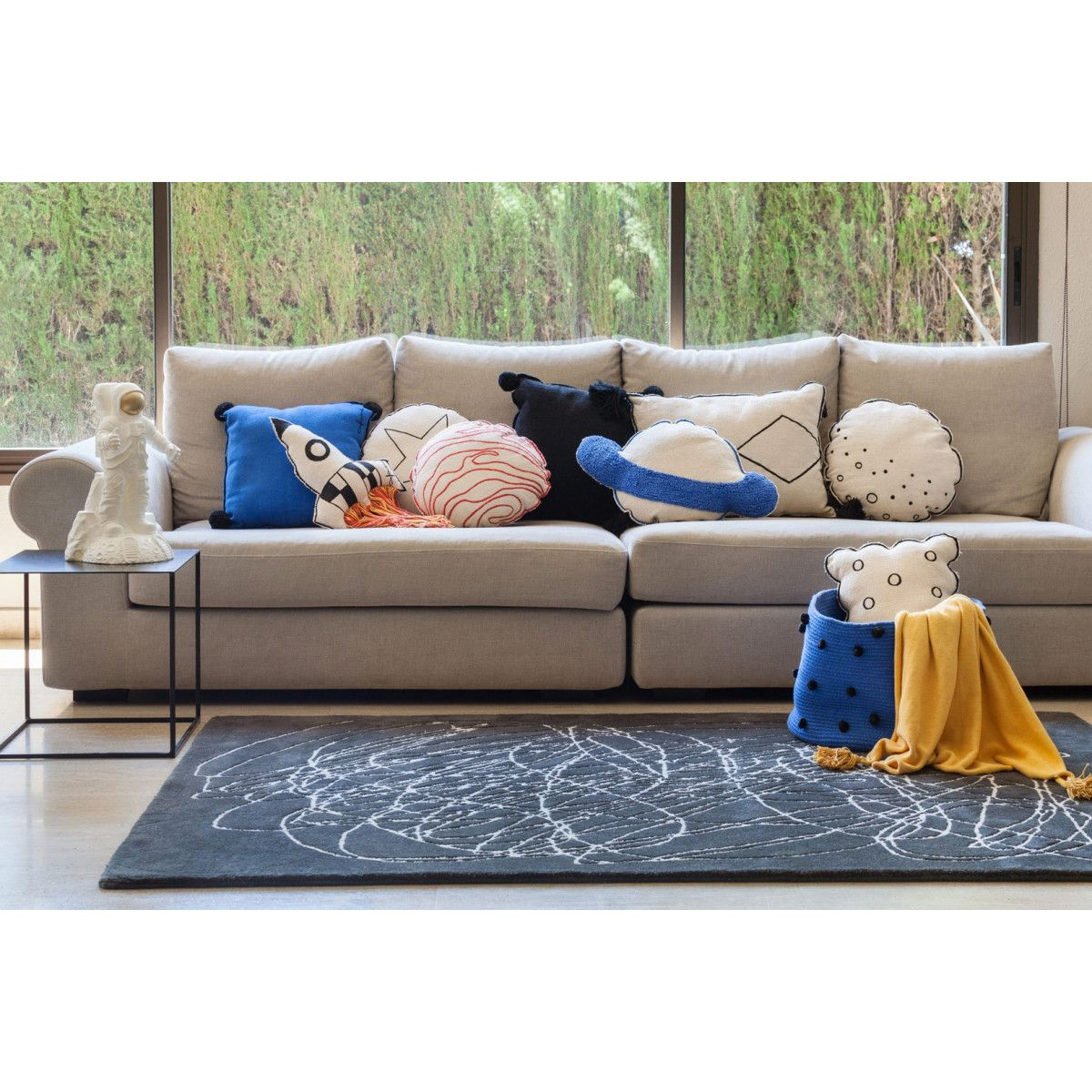 Tapis Raye Moderne Scribble Lorena Canals Taille 170x240 Cm Products In 2019 Tapis Raye Tapis Velours