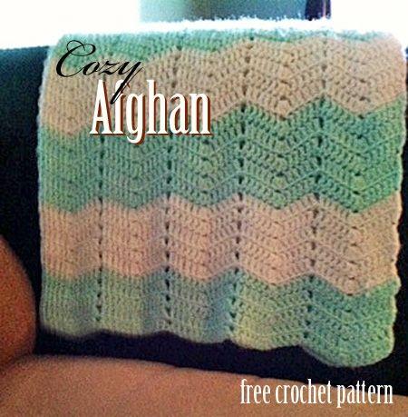 Free Crochet Pattern - Cozy Afghan (easy pattern) - link to pattern ...