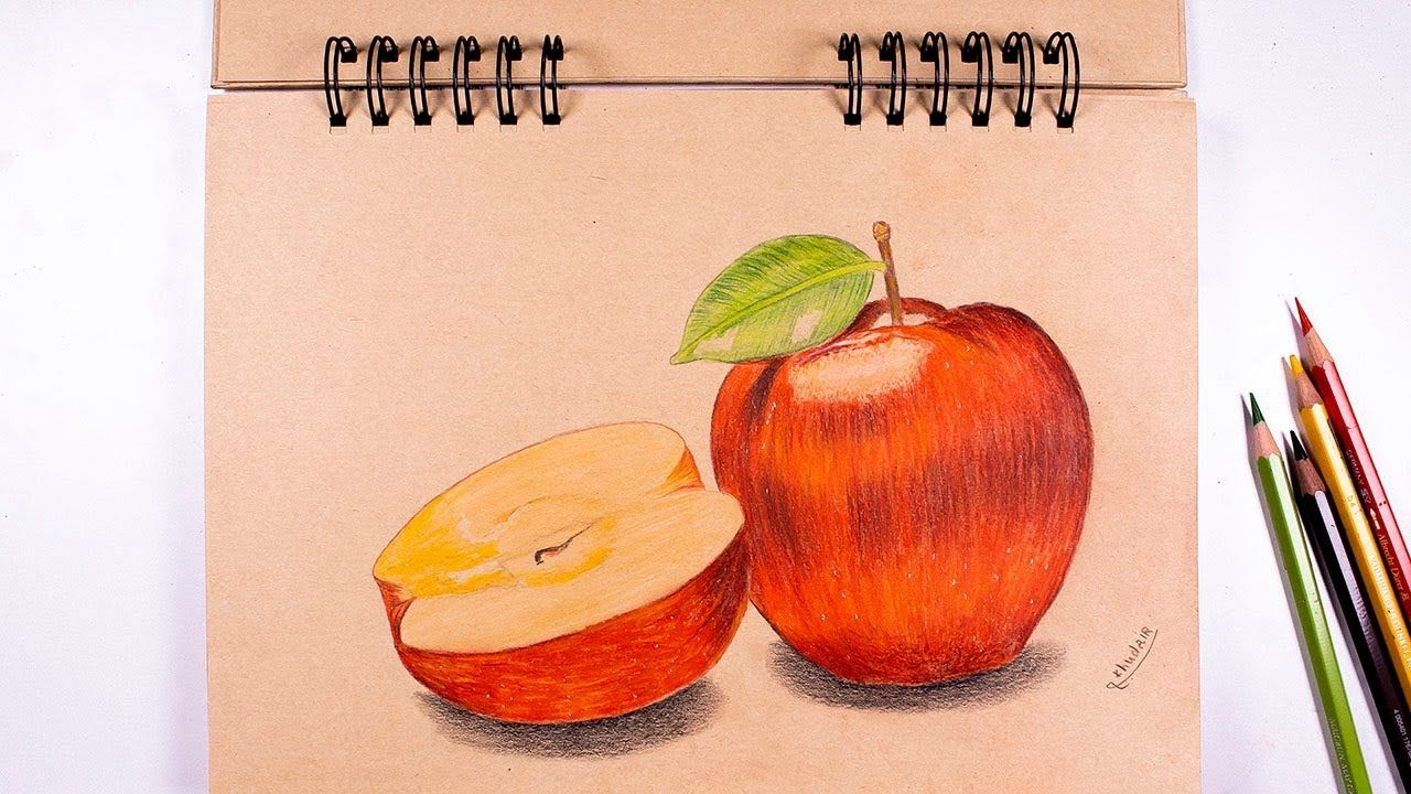 How To Draw An Apple In Wood A Realistic Drawing Realistic Drawings Drawings Art