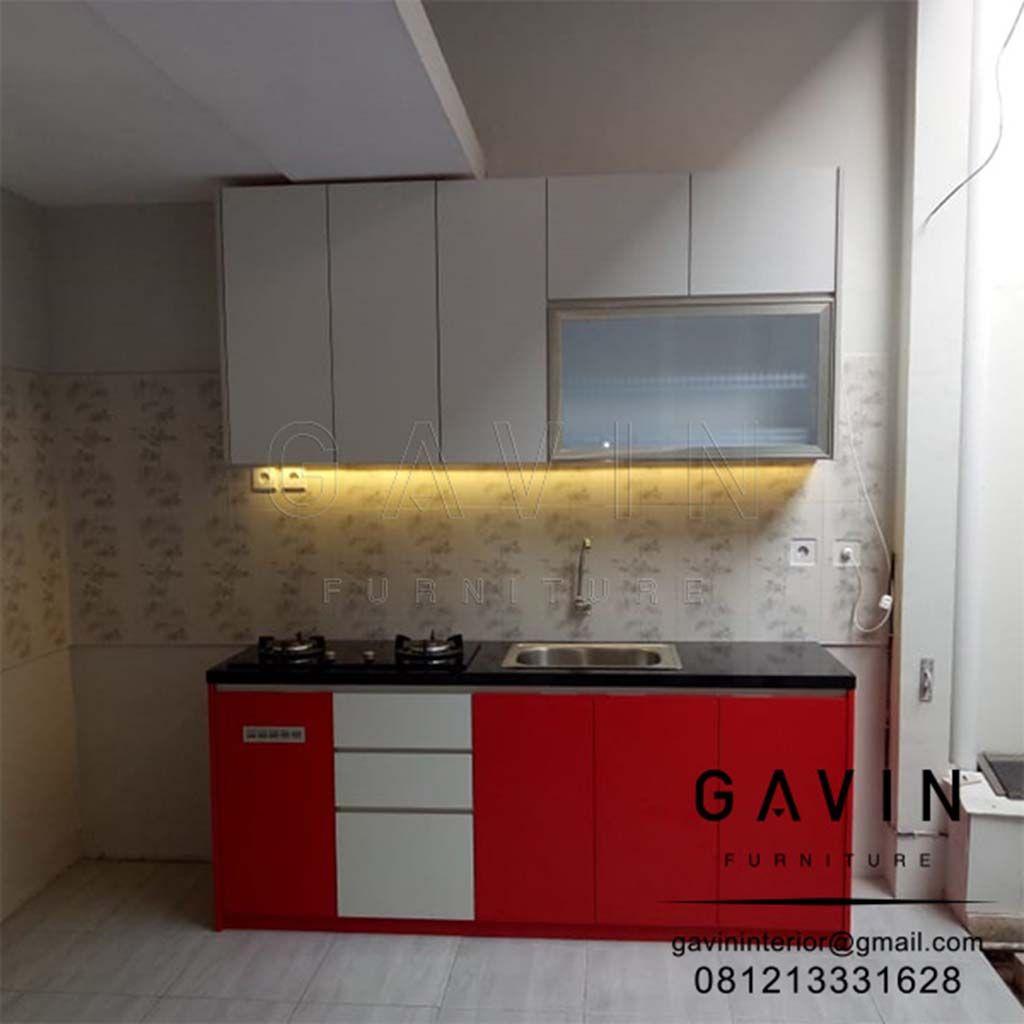 Untuk ukuran dari kitchen set di buat dengan bagian kabinet atas di buat dengan ukuran sekitar