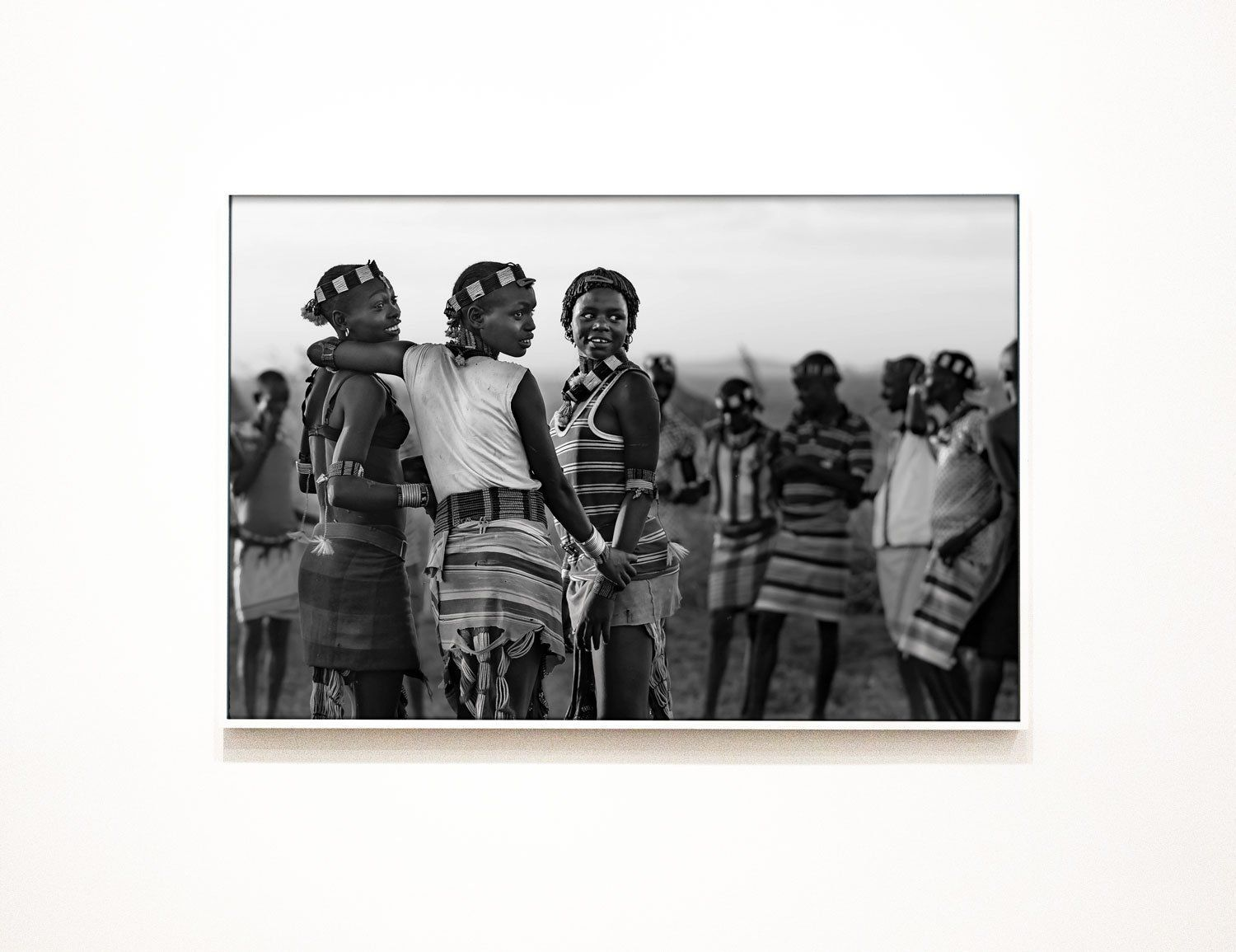 Black and white africa fine art print african girlfriends wall art ethiopia travel photograph africa girl canvas best friends poster