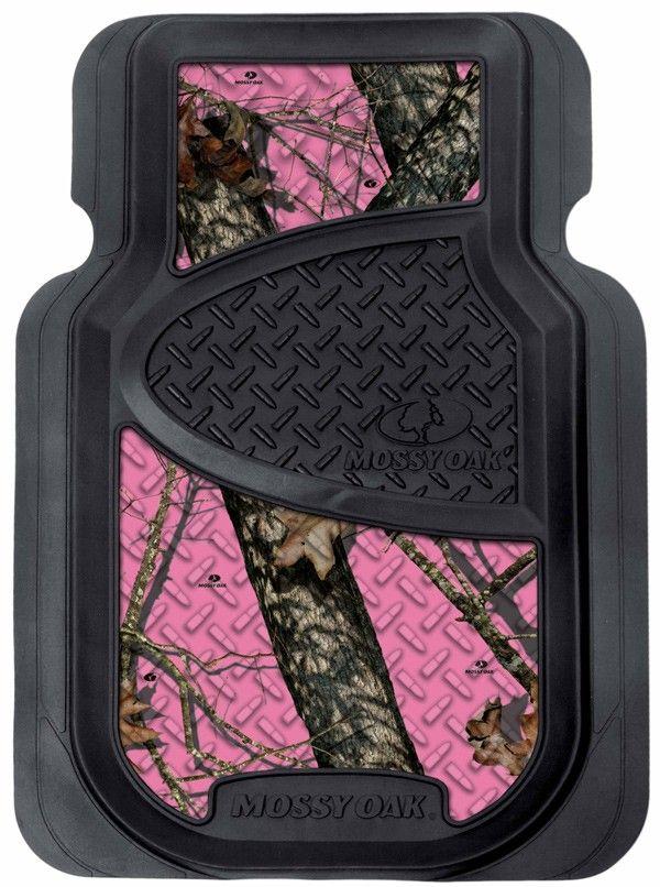 pink mossy oak front car mats. got mine @ cabela's. sold as a pair