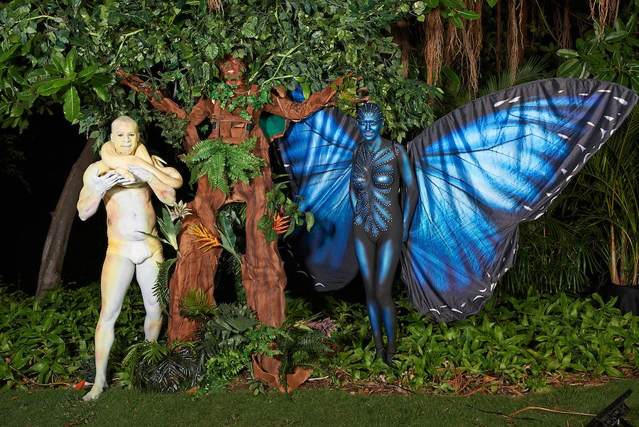 Body Paint Snake, Morpho Butterfly and the Tree ...
