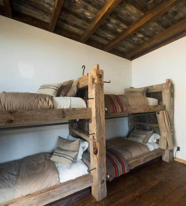 Timber Bunk Beds The Ladder Is Old Telephone Steps Built