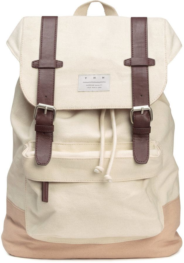 4a15c0b9cdb H&M - Canvas Backpack - Natural white - Men   Bags   Canvas backpack ...