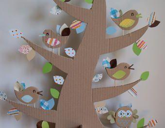 diy faire un arbre d co 100 r cup diy objet en carton d co chambre d 39 enfant activites. Black Bedroom Furniture Sets. Home Design Ideas
