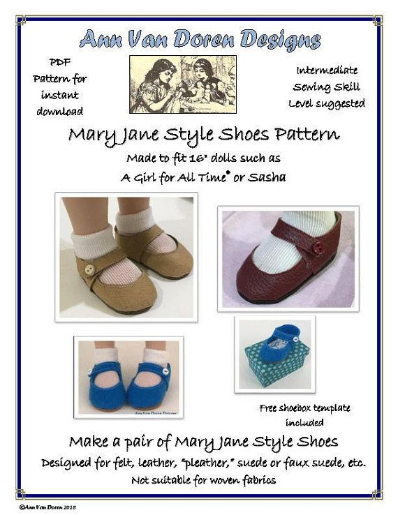 e31eb5cb5d510 Mary Jane Shoe pattern made to fit Slim 16