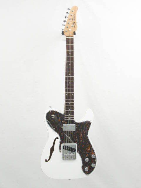 Jay Turser JTLT69CustomWhite Telecaster Thinline Electric Guitar