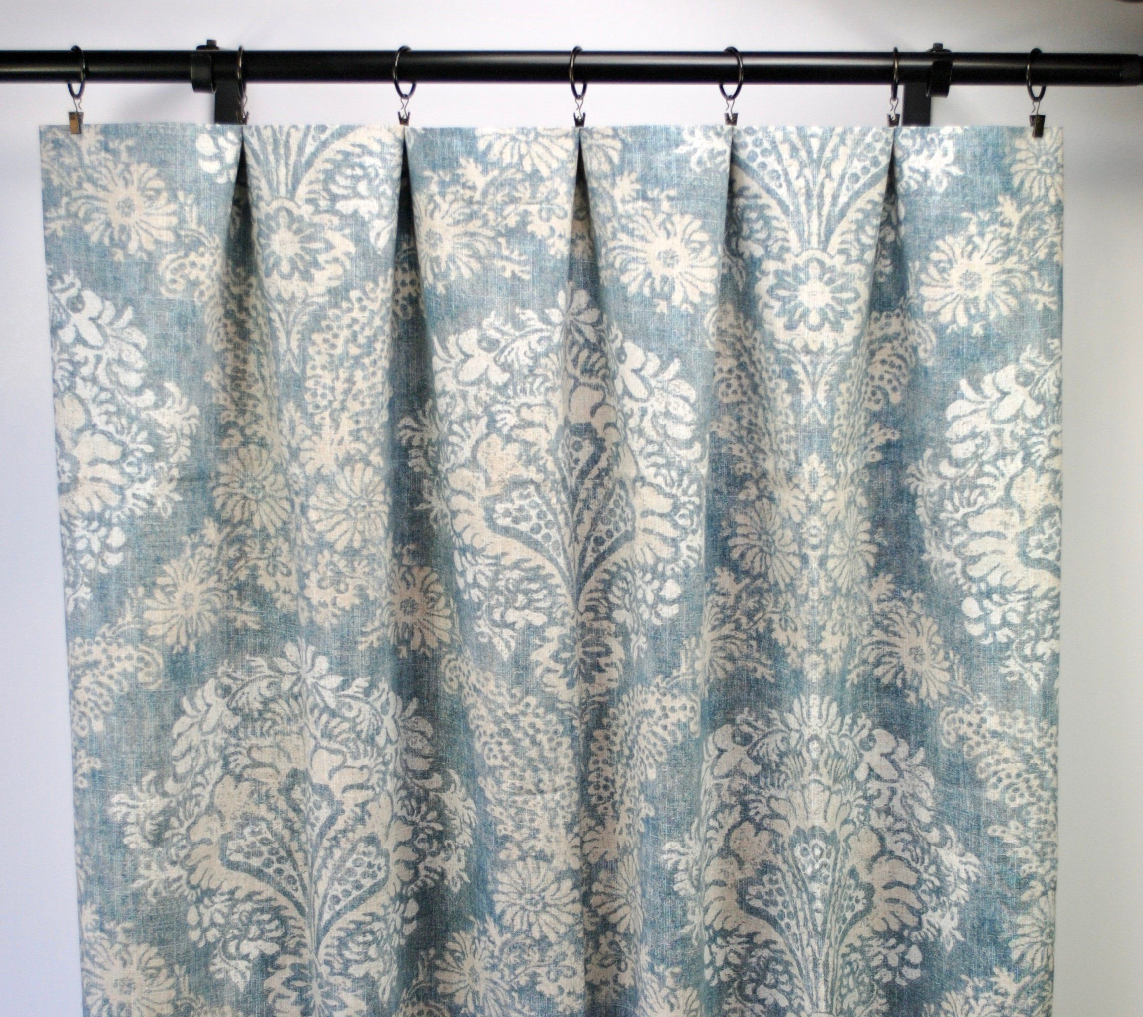 Magnolia Curtains Floral Curtain Blue 2 Panels Home