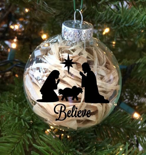 great way to personalize your home season after season or make a great gift for someone special this listing is for a vinyl decal for a christmas ornament