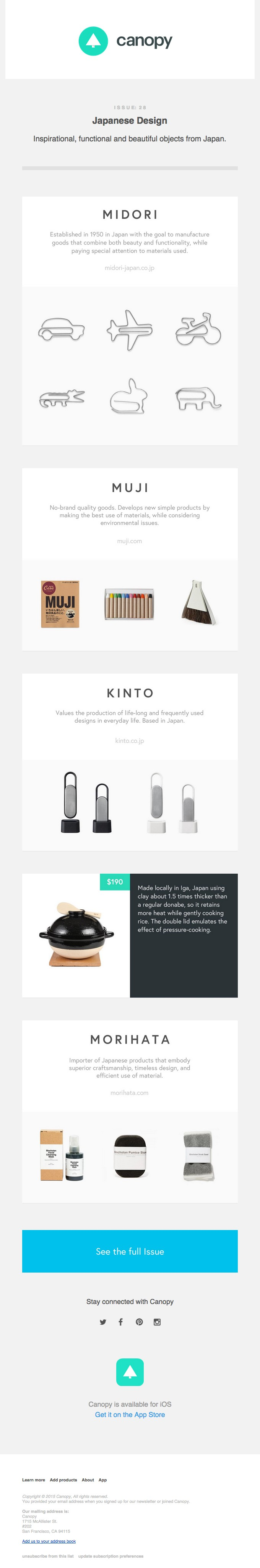 Canopy Email footer | design: email + digital marketing | Pinterest