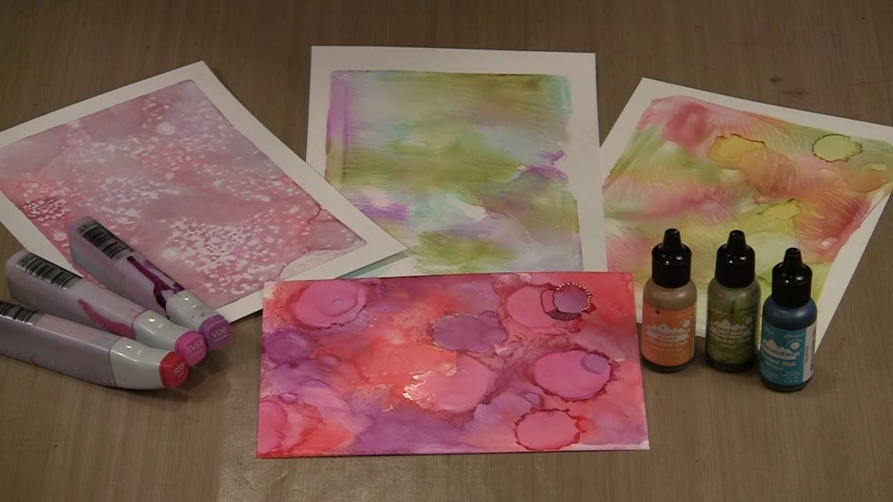 Studies In The Weird Gel Press Alcohol Inks Hand Sanitizer By