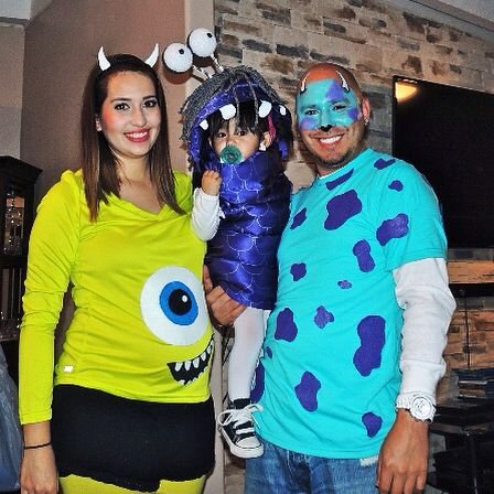 Halloween Costumes For Family Of 3 And Pregnant.Monsters Inc Halloween Costume For Family Of 3 Going On 4