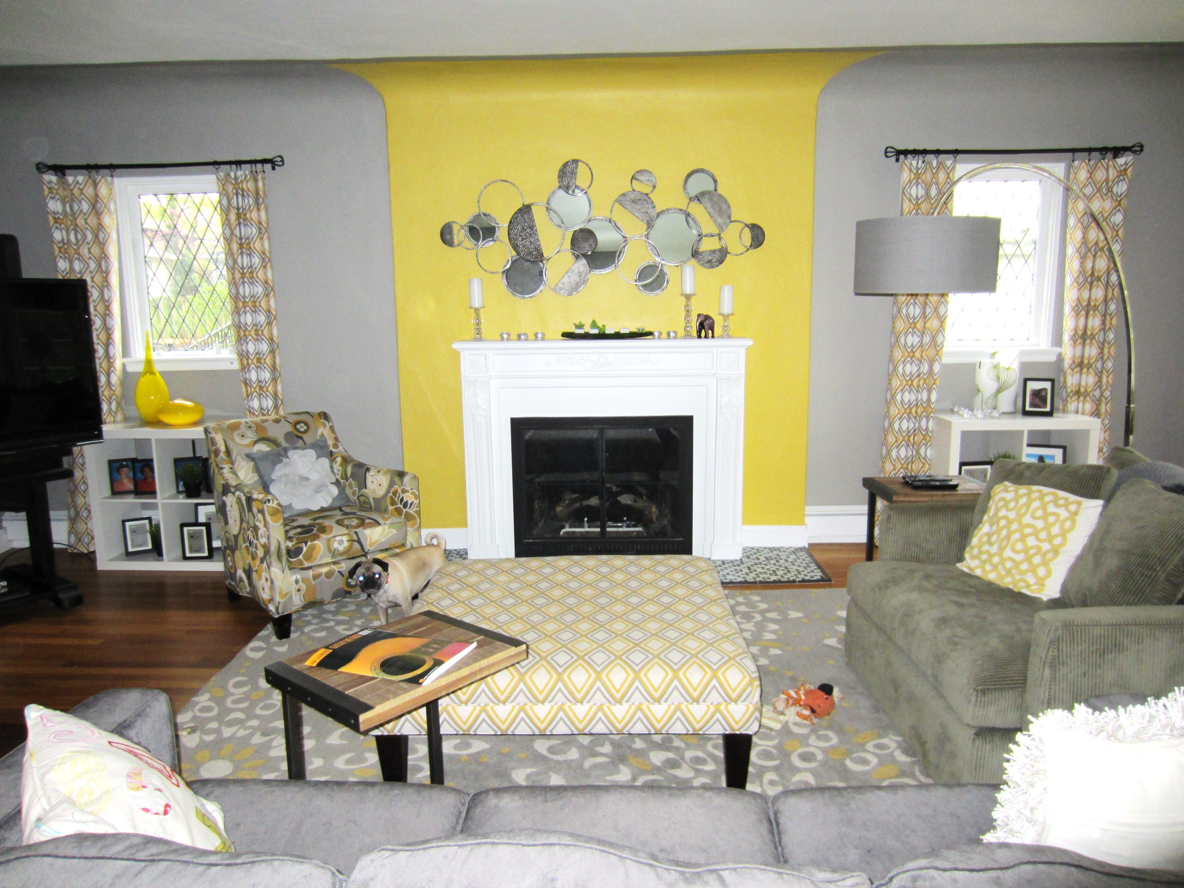 Yellow And Grey Livingroom