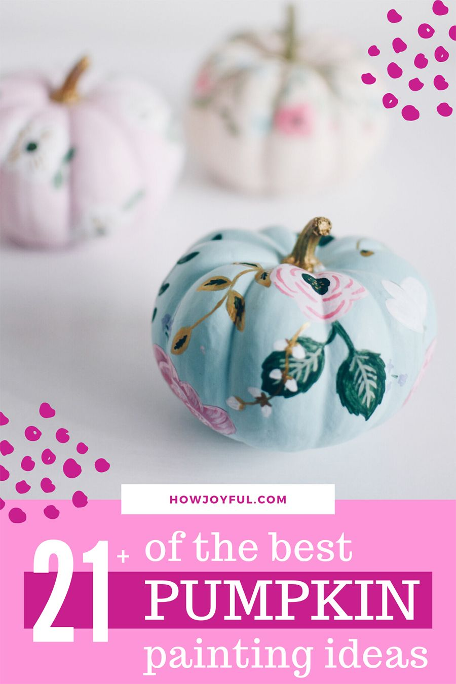 Pumpkin painting ideas - No carving pumpkin decor