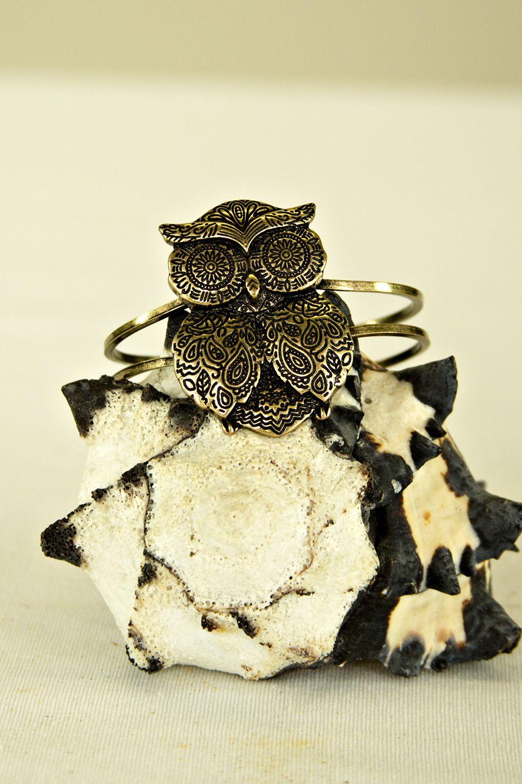Large Owl Bracelet