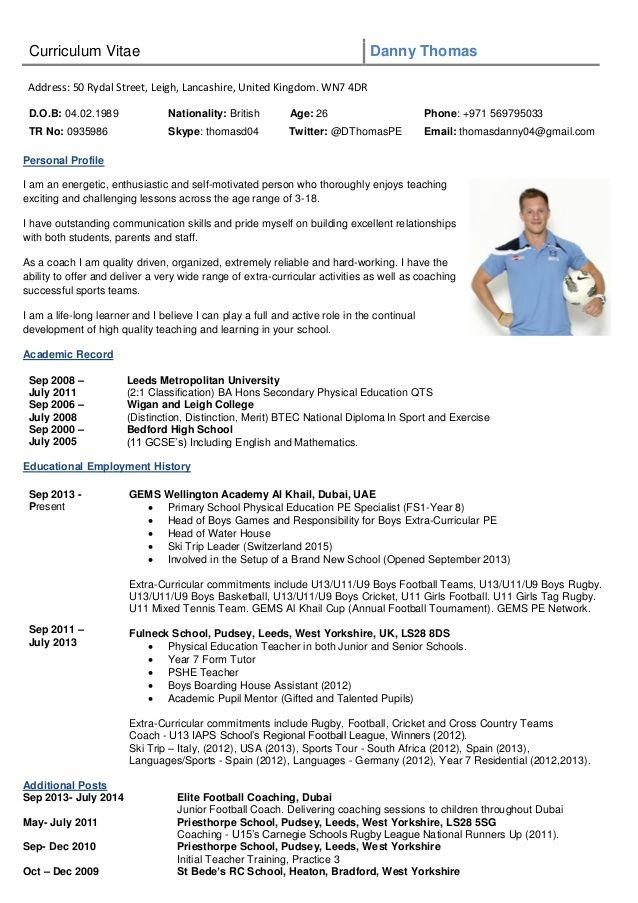 Image result for rugby cv template Exercises Pinterest Cv - soccer player resume