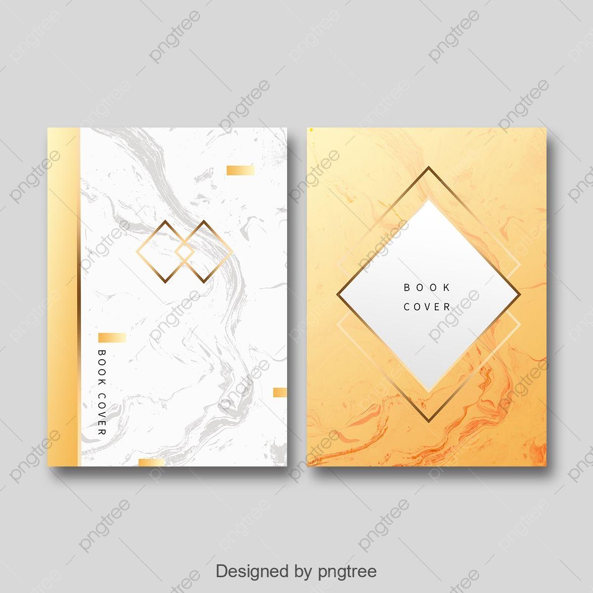 قالب غلاف كتاب الرخام الذهبي البسيط Book Cover Template Cover Template Graphic Design Brochure
