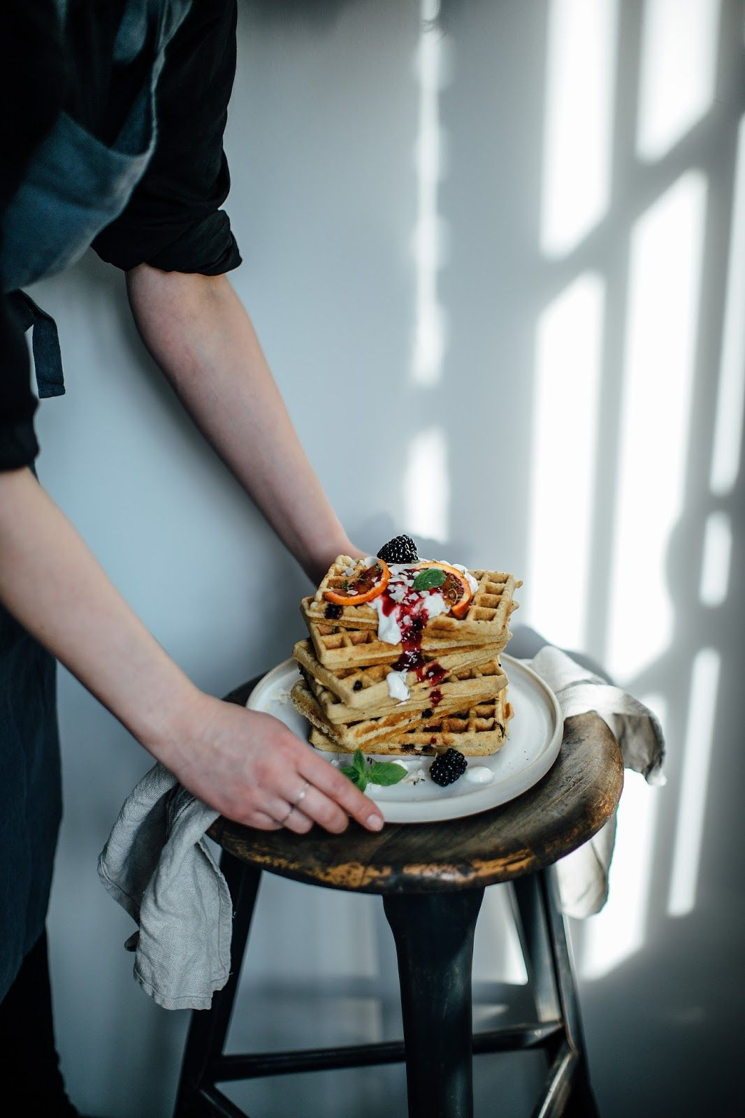 Gluten-free Blueberry Waffles and a Gathering in our new Studio ...