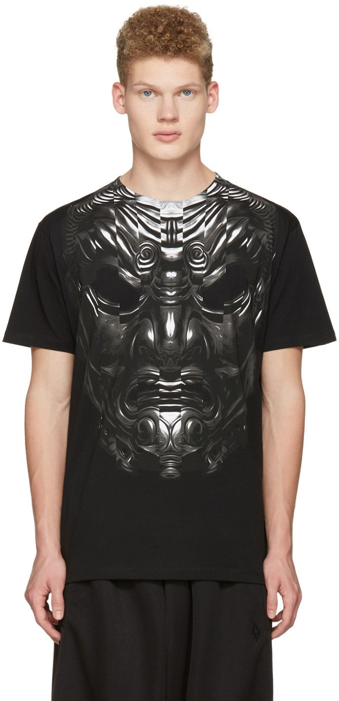 MARCELO BURLON COUNTY OF MILAN Black Romeo T-Shirt. #marceloburloncountyofmilan #cloth #t-shirt