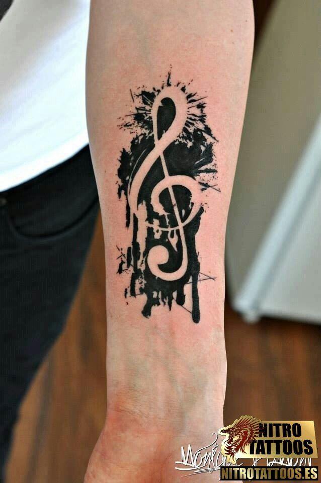Clave De Sol En Tatuaje Tatuajes Pinterest