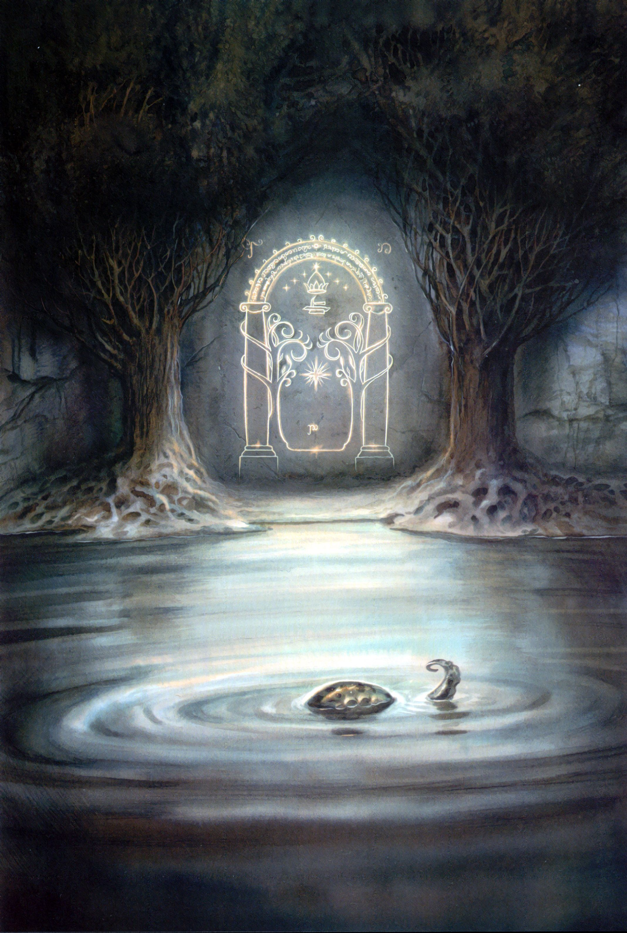 The Lord of the Rings - John Howe Art - The Door at Moria The & The Lord of the Rings - John Howe Art - The Door at Moria The ...