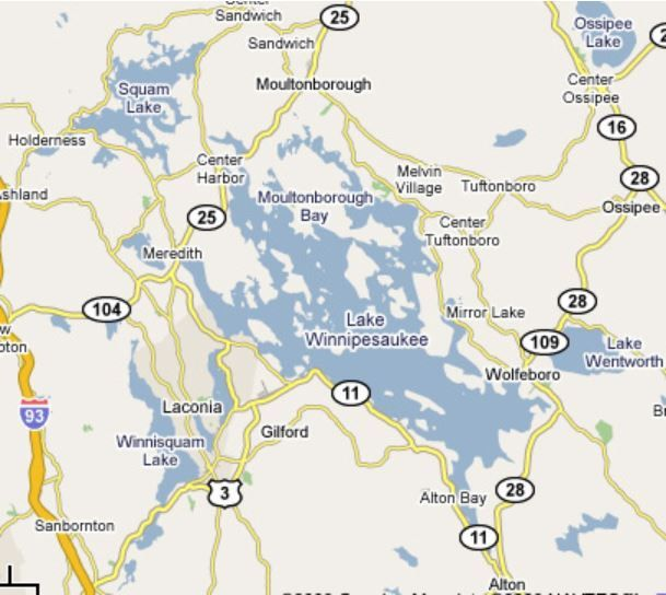 Lake Winnipesaukee Map Places Pinterest Lakes and Hampshire
