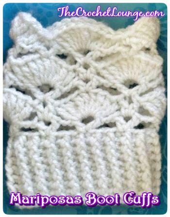 Mariposas Boot Cuffs Pattern By E Lee Crochet Clothing