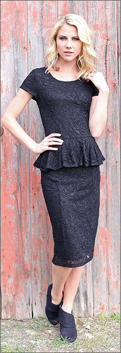 Sabrina Peplum Dress BACK ORDER TILL 11/15/13 [S1303] - $69.99 : Mikarose Fashion, Reinventing Modest Fashion