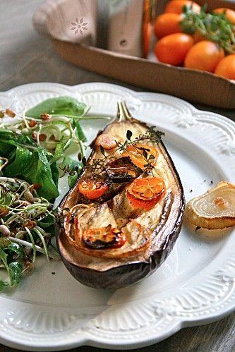 Melanzane arrosto al forno con kumquat & timo