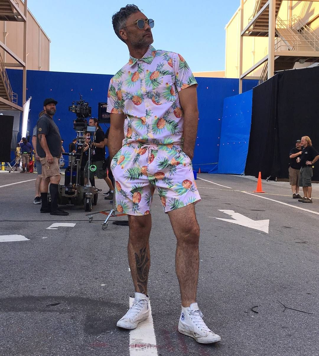 sells buy good top-rated newest Taika Waititi in a pink pineapple romper. This is gold ...