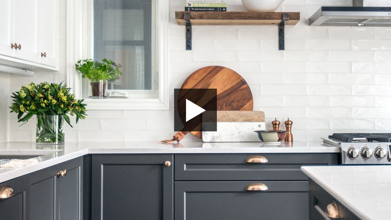 This twotone kitchen is incredibly organized home ideas i like