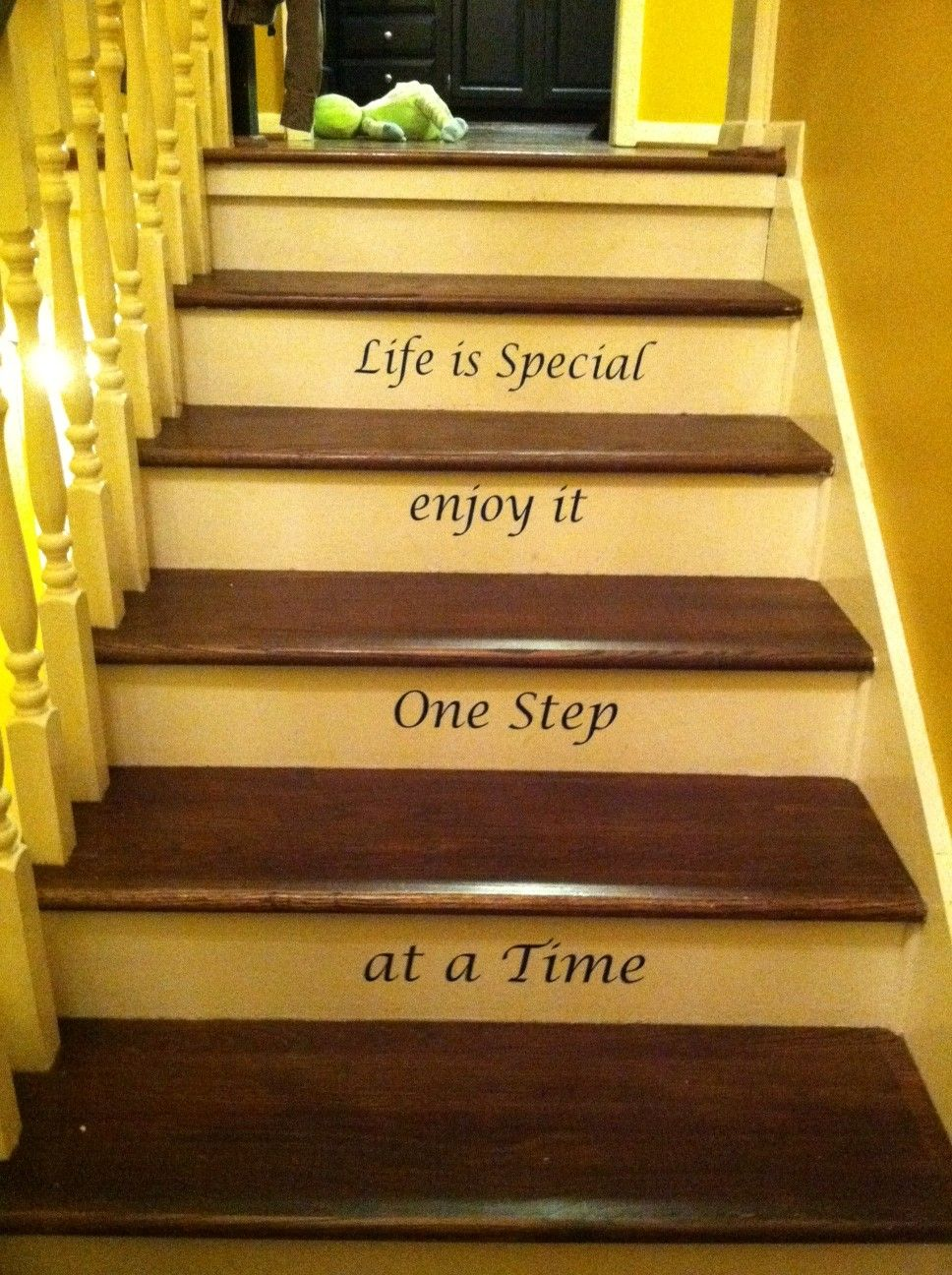 My stairs!! :) | My DIY projects... | Pinterest | Stair decor ...