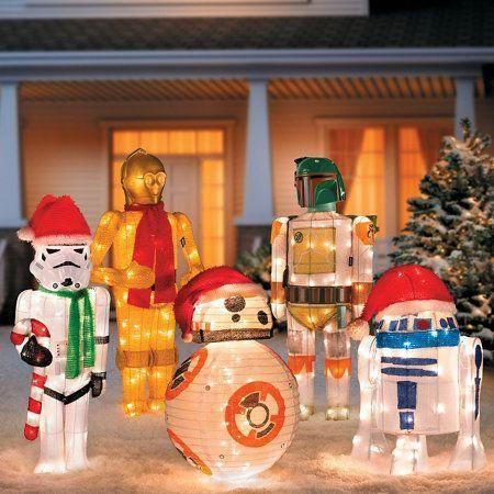 Star Wars Outdoor Christmas Decorations #christmaslightsoutdoorideas ...