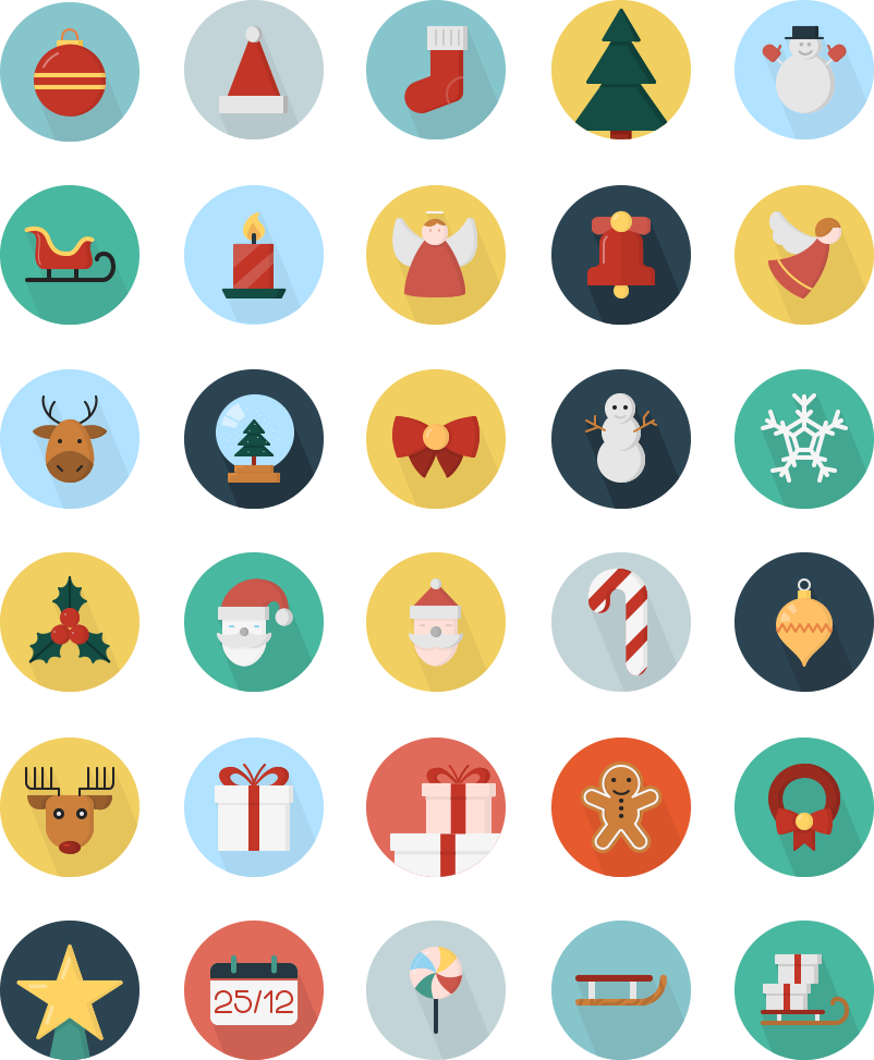 Christmas is near! Here are creative Christmas icons from