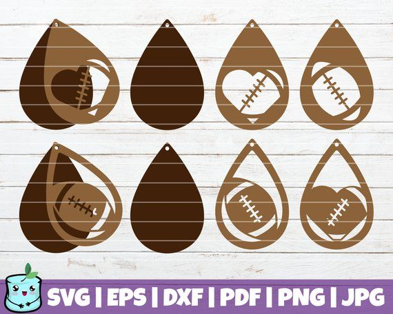 Photo of Football Earrings SVG Cut Files | Sport Earrings | commercial use | instant download | leather jewelry | vector | handmade | silhouette