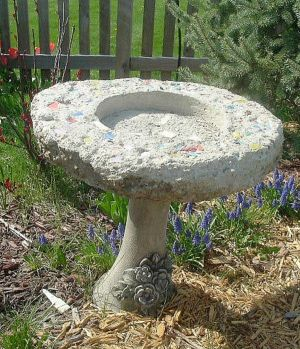 Enhancing Gardens With Concrete Bird Baths Has A Long